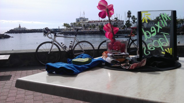 Lunch time view in Puerto del Mogan