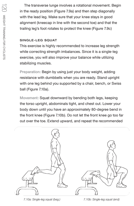 Weight Training for Cyclists Snap Shot