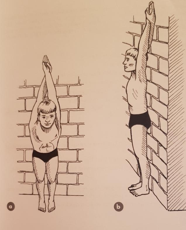 Swim Drill 4 Standing Streamline